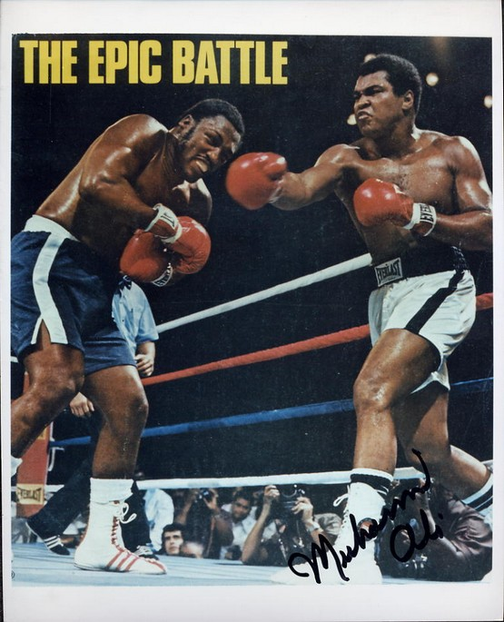 Ali, Muhammad - Autographed Photo, The Epic Battle
